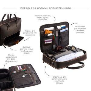 Функциональный коричневый мужской портфель рюкзак BRL-23167 235064
