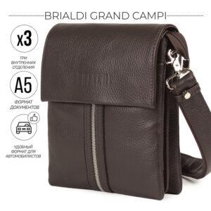Неповторимая коричневая мужская сумка BRL-19864