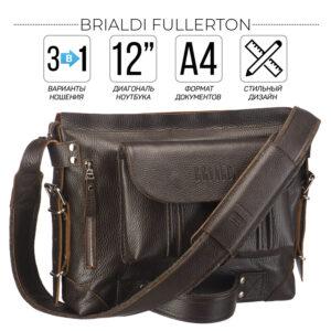 Неповторимый коричневый мужской рюкзак BRL-28405