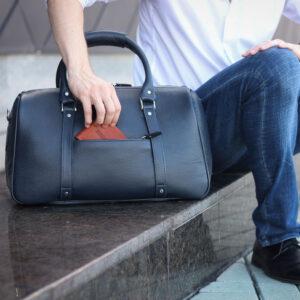Удобная синяя сумка спортивная BRL-23332 235228