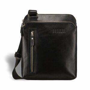 Функциональная черная мужская сумка через плечо BRL-1518 233531