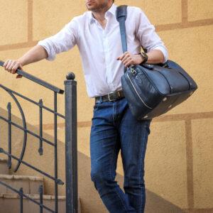 Удобная синяя сумка спортивная BRL-23332 235435