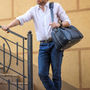 Удобная синяя сумка спортивная BRL-23332 235430