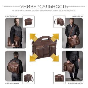 Стильный коричневый мужской рюкзак BRL-28427 235658