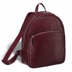 Кожаная бордовая женская сумка BRL-17486