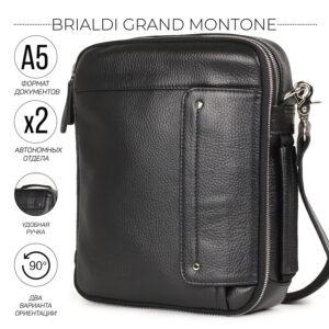 Стильная черная мужская сумка для документов BRL-19877