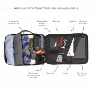 Удобная черная дорожная сумка портфель BRL-23144 234972