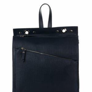 Кожаный синий женский рюкзак FBR-1147