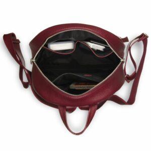 Кожаная бордовая женская сумка BRL-17486 234369