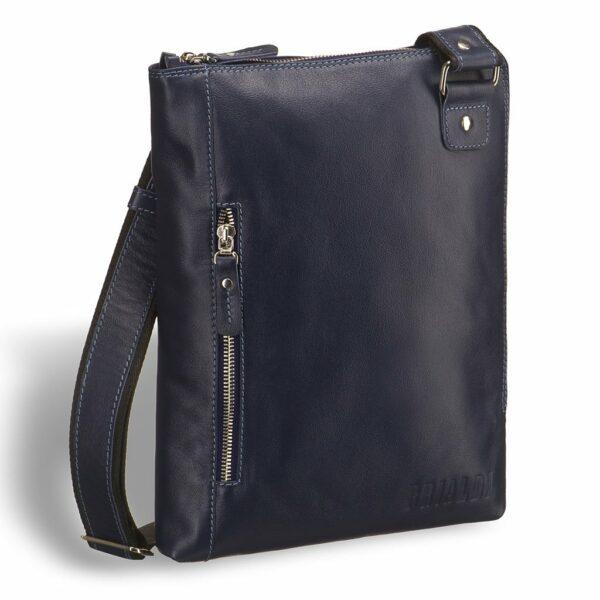Солидная синяя мужская сумка BRL-7528