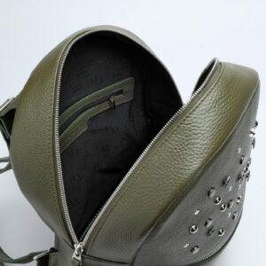 Стильный желтовато-зелёный женский рюкзак FBR-1163 233281