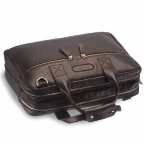 Солидная коричневая мужская сумка BRL-12973 234122