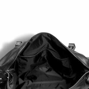 Кожаная черная мужская сумка BRL-11874 233903