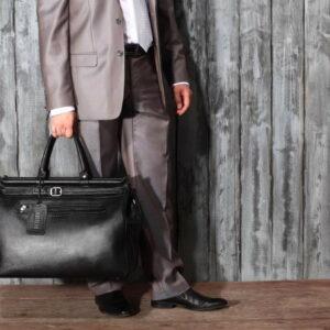 Кожаная черная мужская сумка BRL-149 233348