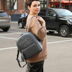 Модный серый женский рюкзак FBR-1171 233133