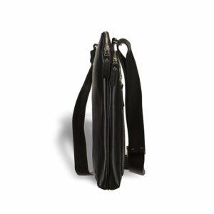 Функциональная черная мужская сумка через плечо BRL-1518 233532