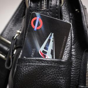 Удобная черная мужская сумка для документов BRL-12995 234185