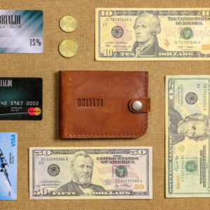 Удобный темно-оранжевый мужской бумажник BRL-7593 233794
