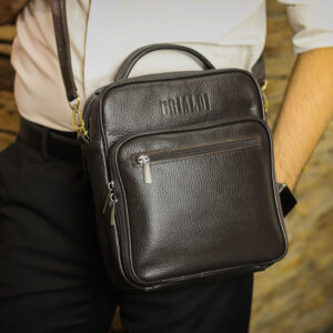Солидный коричневый мужской планшет BRL-12937 234111