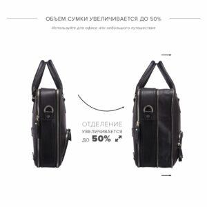 Солидная черная мужская классическая сумка BRL-23166 234966