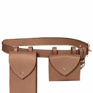 Вместительная темно-оранжевая женская поясная сумка FBR-2454
