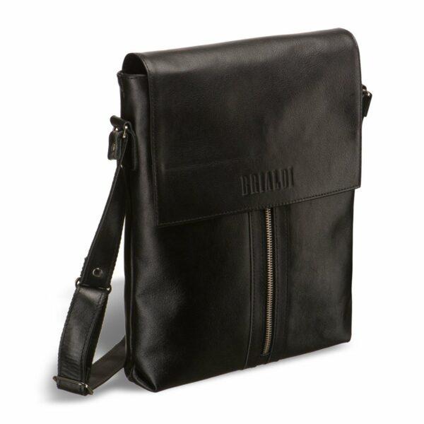 Удобная черная мужская сумка для документов BRL-1021