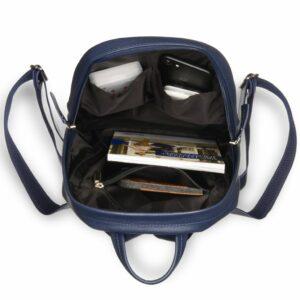 Солидная синяя женская сумка BRL-17483 234350