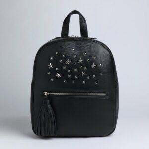 Кожаный черный женский рюкзак FBR-1166