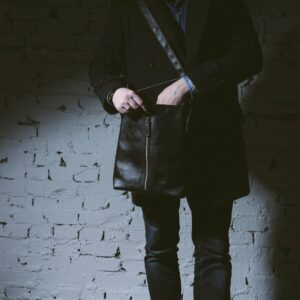 Удобная черная мужская сумка для документов BRL-1021 233502