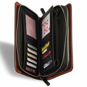 Стильный черный мужской кожаный кошелек BRL-7600 233799