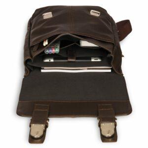 Удобный коричневый мужской рюкзак для ручной клади BRL-17457 234334
