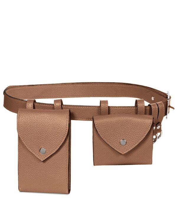 Уникальная черная женская поясная сумка FBR-2454