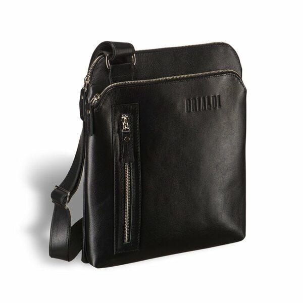 Функциональная черная мужская сумка через плечо BRL-1518