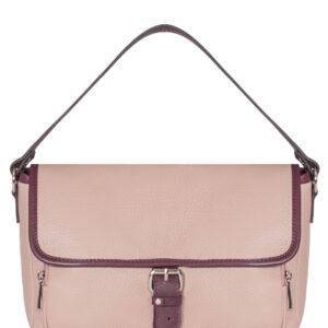 Функциональная розовая женская сумка через плечо FBR-1443