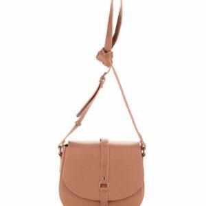 Солидная бежевая женская сумка через плечо FBR-1501