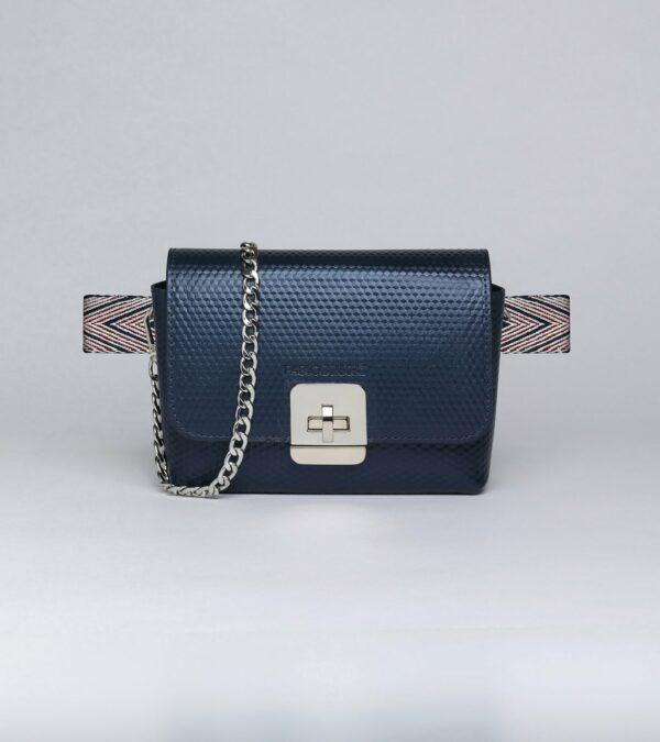 Деловая синяя женская сумка FBR-2905