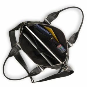 Кожаная черная мужская сумка BRL-17805 234379
