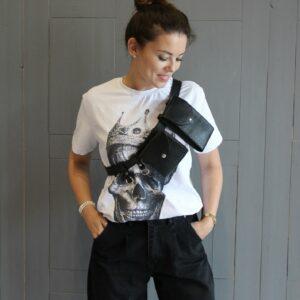 Модная черная женская поясная сумка FBR-2472 235995