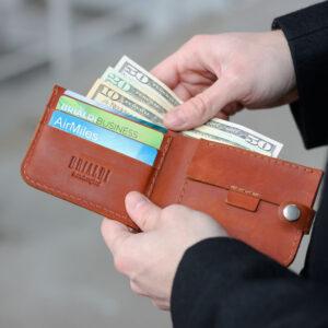 Удобный темно-оранжевый мужской бумажник BRL-7593 233779