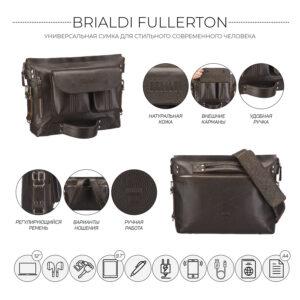 Неповторимый коричневый мужской рюкзак BRL-28405 235558