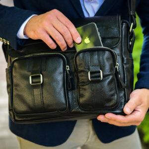 Удобная черная мужская сумка для документов BRL-12995 234153