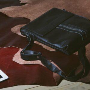 Удобная черная мужская сумка для документов BRL-1021 233475