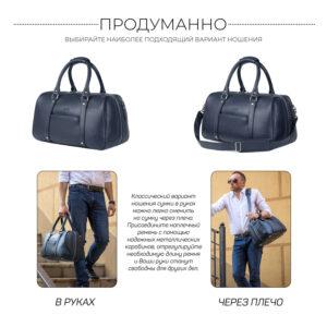 Удобная синяя сумка спортивная BRL-23332 235302