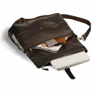 Функциональная коричневая мужская сумка через плечо BRL-3517 233691