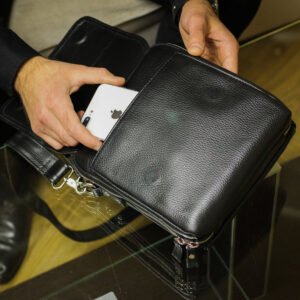 Уникальная черная мужская сумка BRL-26688 235252