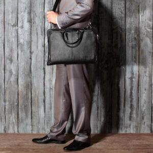 Функциональная черная мужская сумка для документов BRL-779 233455