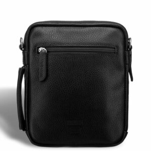 Кожаная черная мужская сумка мессенджер BRL-19879 234605