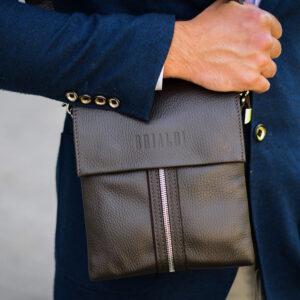 Неповторимая коричневая мужская сумка BRL-19864 234525