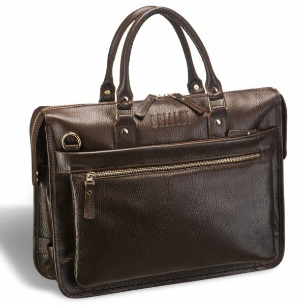 Солидная коричневая мужская сумка для документов BRL-12048