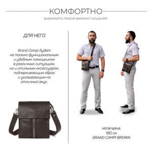 Неповторимая коричневая мужская сумка BRL-19864 234576
